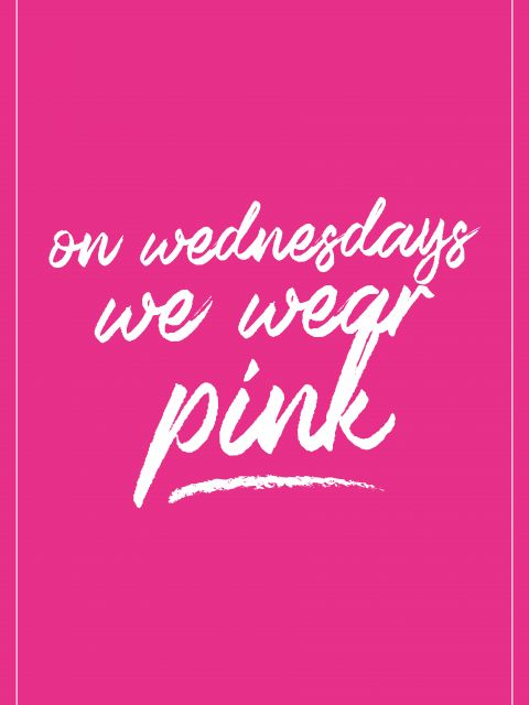 Poster Pink   Meninas Malvadas Mean Girls on wednesdays we wear pink rosa