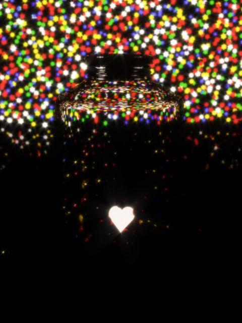 Poster Amor Guardado II   Coração Colorido