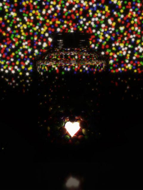 Poster Amor Guardado IV   Coração Colorido