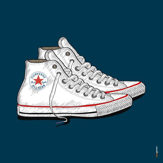 Poster All Star Branco   tênis sapato