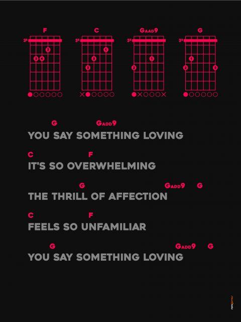 Poster Say Something Loving - The XX   Cifra