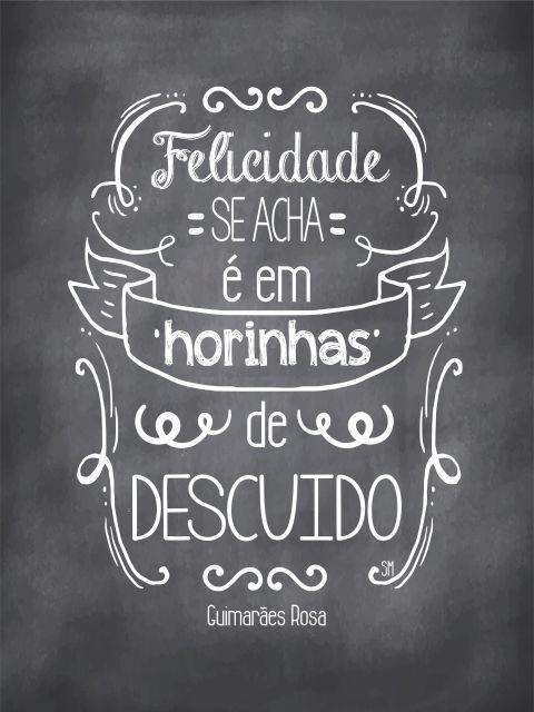 Poster Felicidade   Guimarães Rosa
