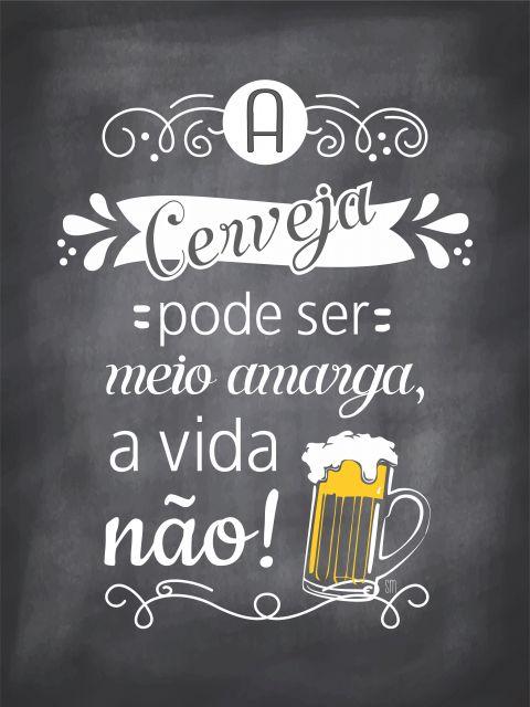 Poster Cerveja e Vida