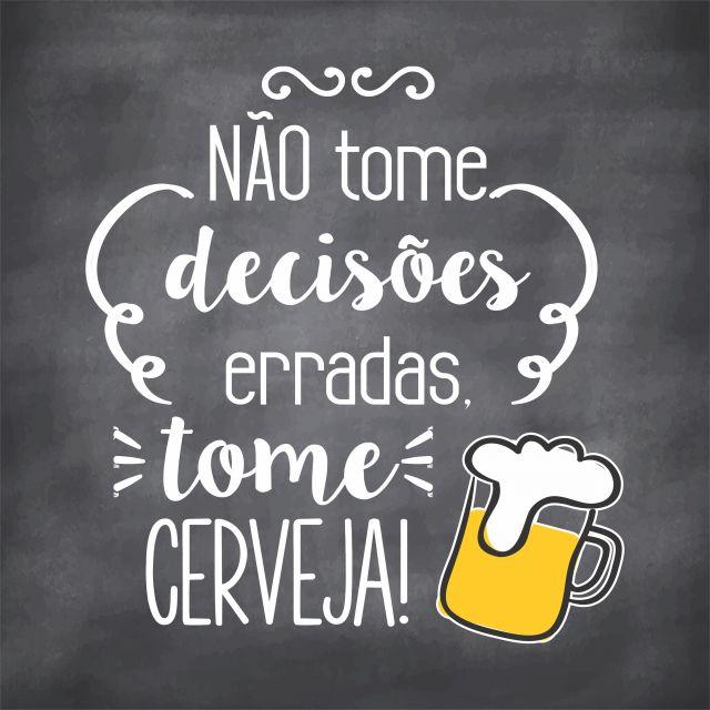 Poster Cerveja e Decisões