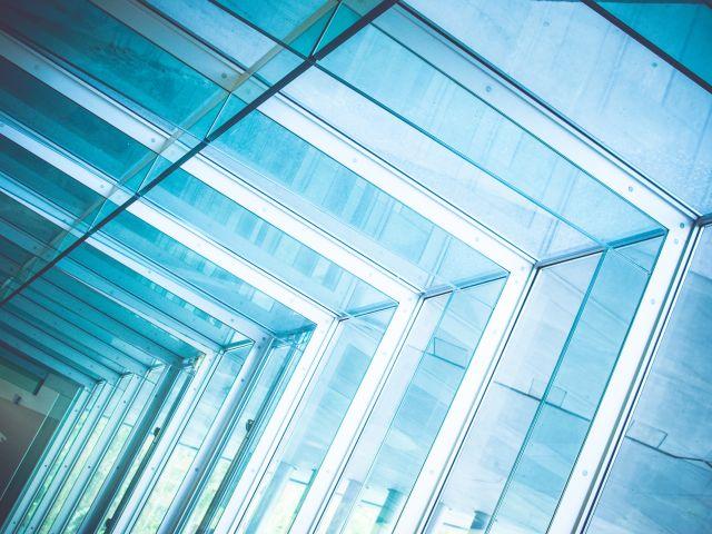 Poster Glass Architecture   azul