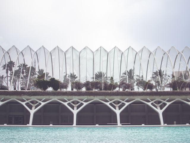 Poster Calatrava em Valência   Espanha Arquitetura