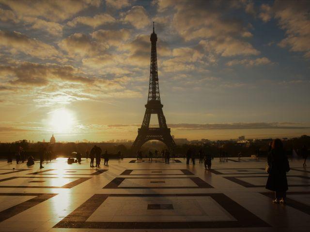 Poster Sunrise Sol Paris   França Nascer do Sol