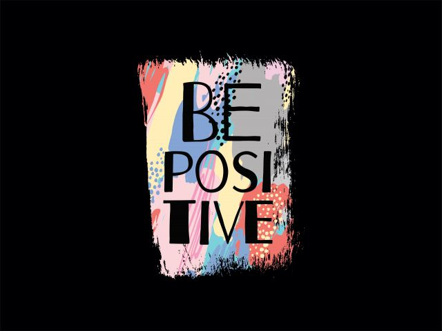 Poster Be positive