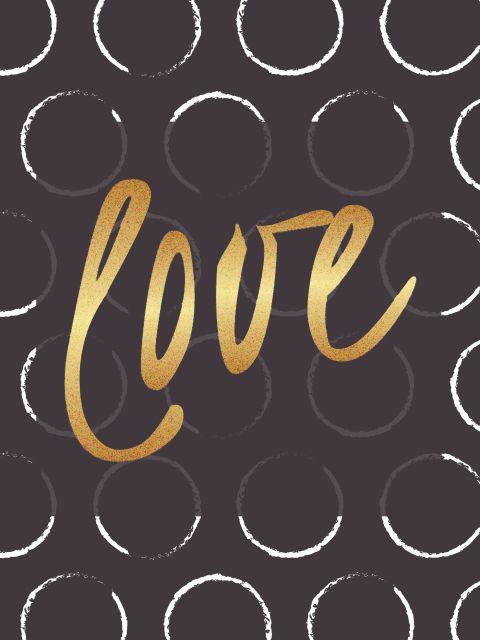 Poster Love Dourado