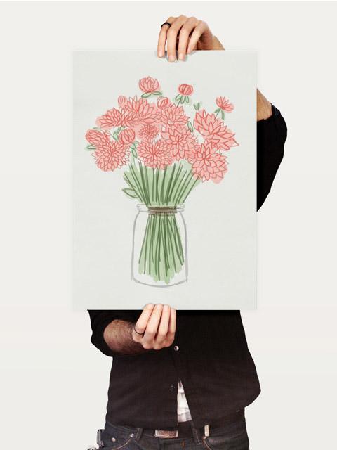 Poster Jarro de flores