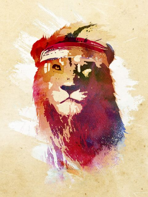 Poster Gym Lion