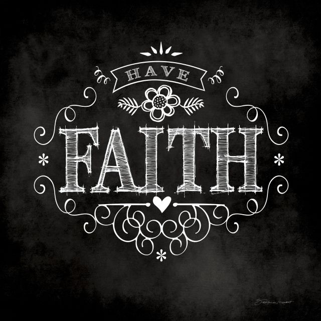 Poster Faith chalkboard