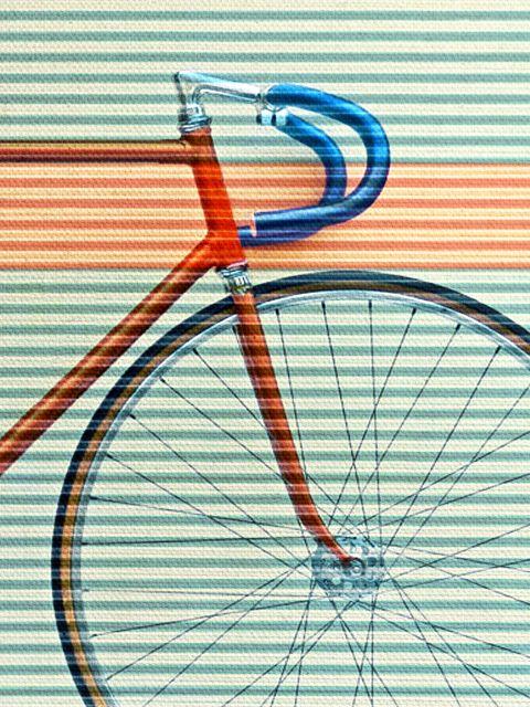 Poster Standard Striped Bike   bicicleta