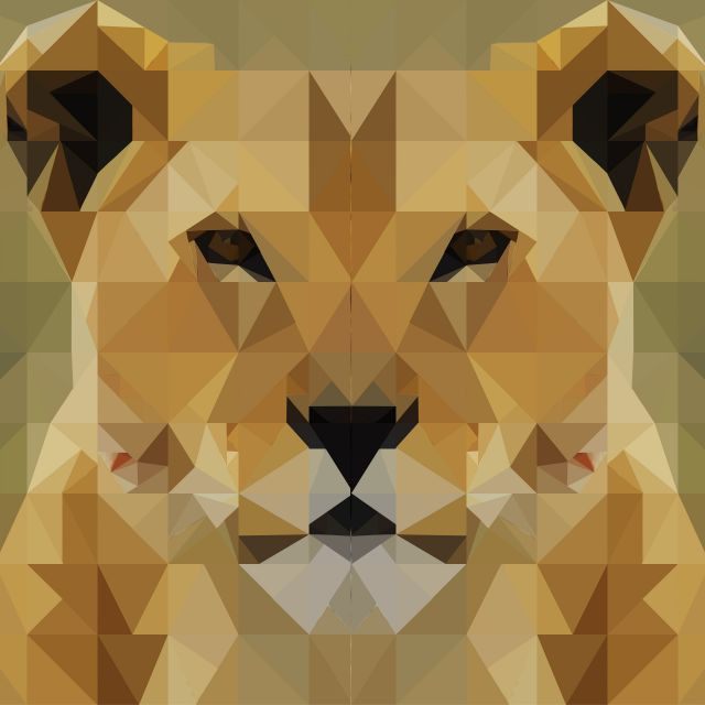 Poster Triângulo dos leões
