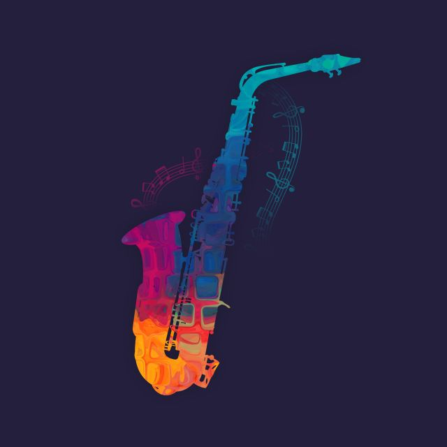 Poster Saxophone Color