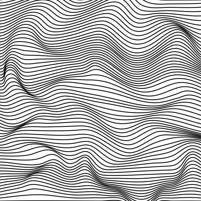 Poster Tecido ondulado