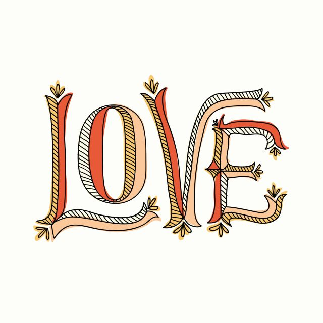 Poster Love Tipografia