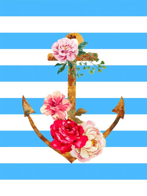 Poster Ancora Floral