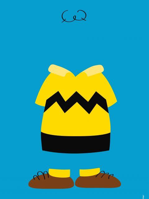 Poster Charlie Brown Minimalista