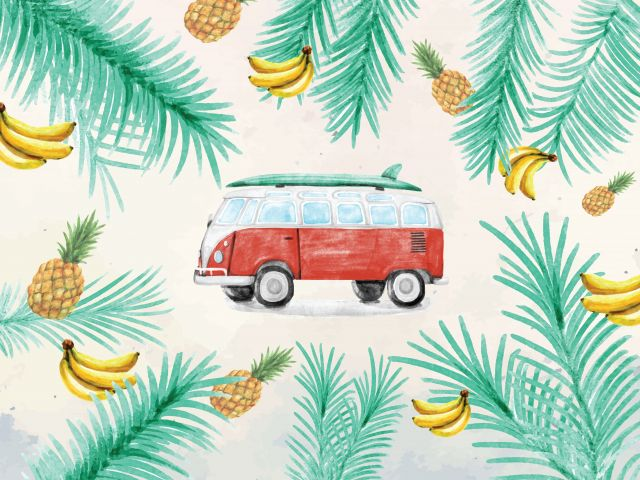 Poster Kombi tropical