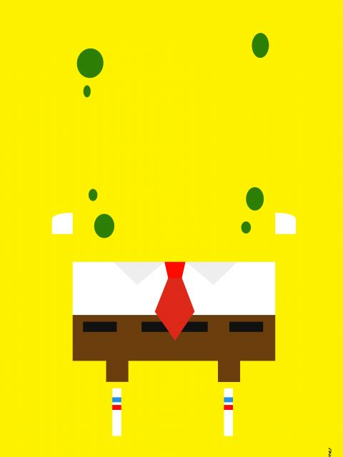 Poster Bob Esponja Minimalista