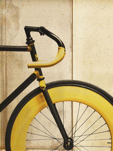 Poster Bike Amarela   bicicleta