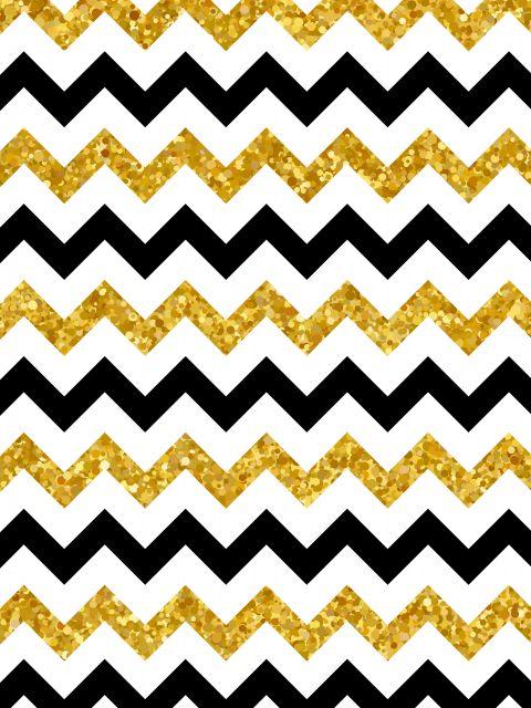 Poster Padrão Preto e Dourado