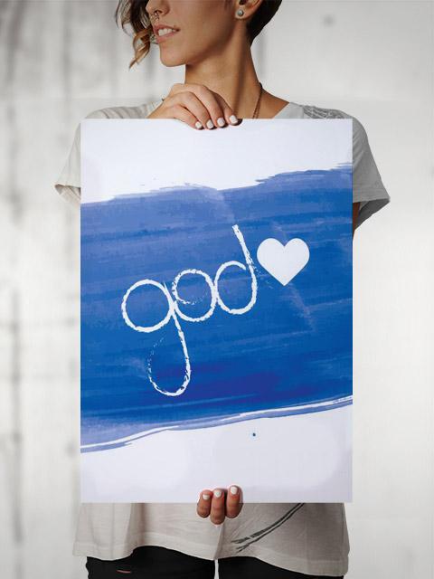 Poster Pintura God