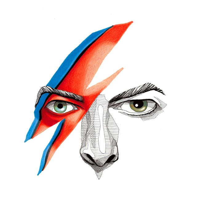 Poster David Bowie Ilustração