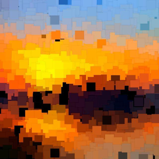 Poster Pôr do sol VI