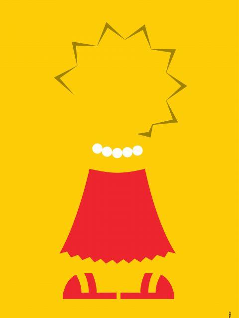 Poster Lisa Simpson Minimalista