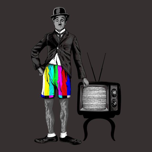 Poster Cores   chaplin charles chaplin televisão cinema