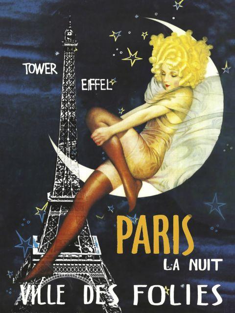 Poster Paris Moon