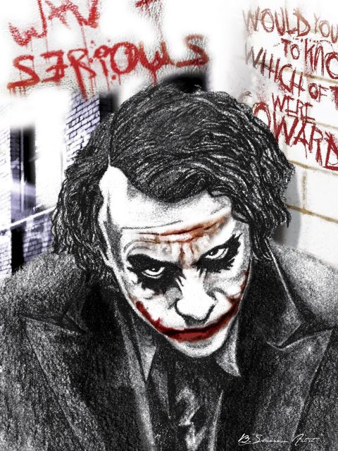 Poster Coringa PeB   joker