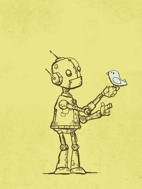Poster Robot Bird