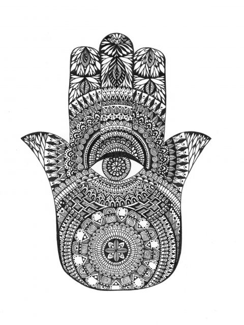 Poster Hamsa Hand