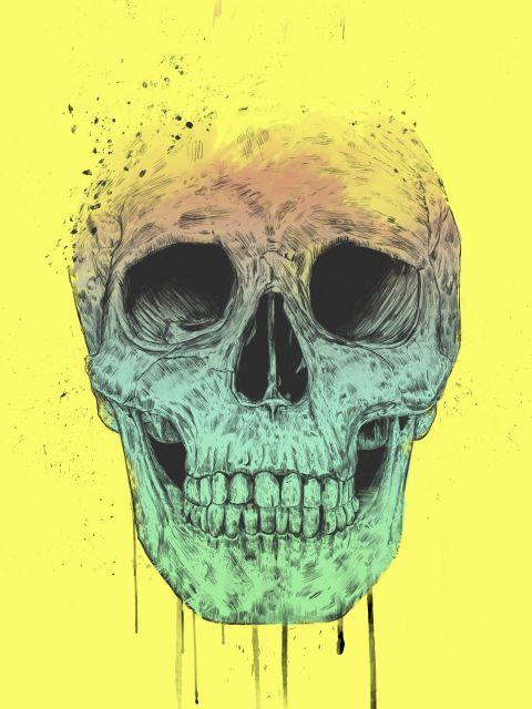 Poster Pop Art Skull