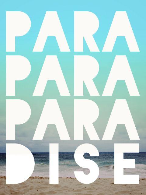 Poster Paradise   coldplay paraíso