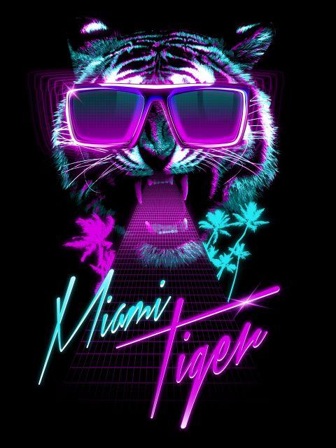 Poster Miami Tiger   tigre animal