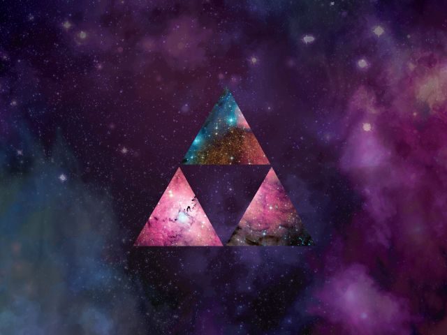 Poster Triforce Galaxy