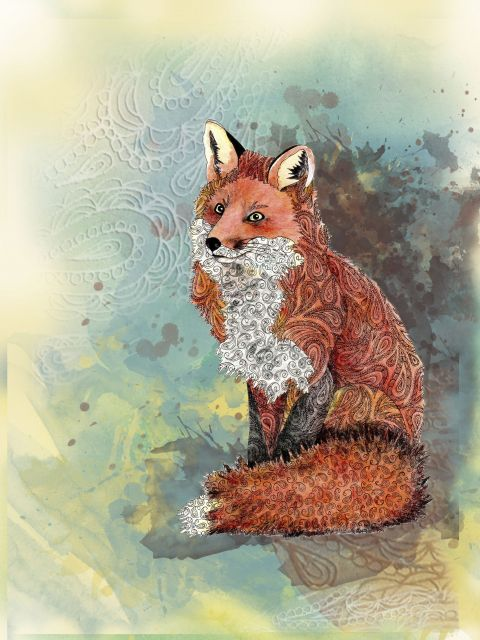 Poster Paisley Fox