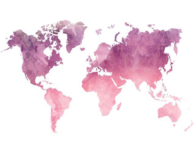 Poster Mundo Cor de Rosa