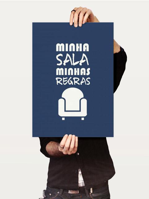 Poster Minha sala, minhas regras