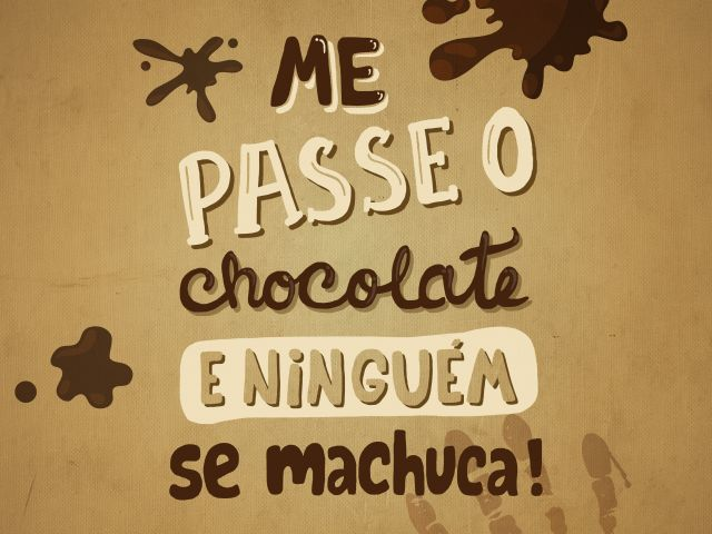 Poster Me passe o chocolate