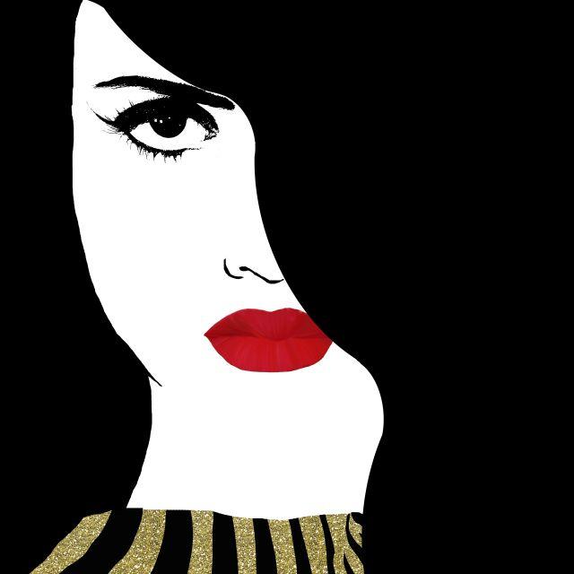 Poster Francesca Gold   mulher boca batom