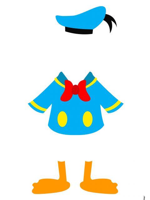 Poster Pato Donald Minimalista  Disney