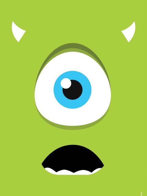 Poster Mike Minimalista Monstros SA
