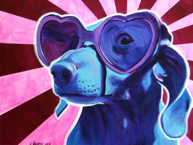 Poster Cão Fashion   animal cão cachorro filhote fashion óculos