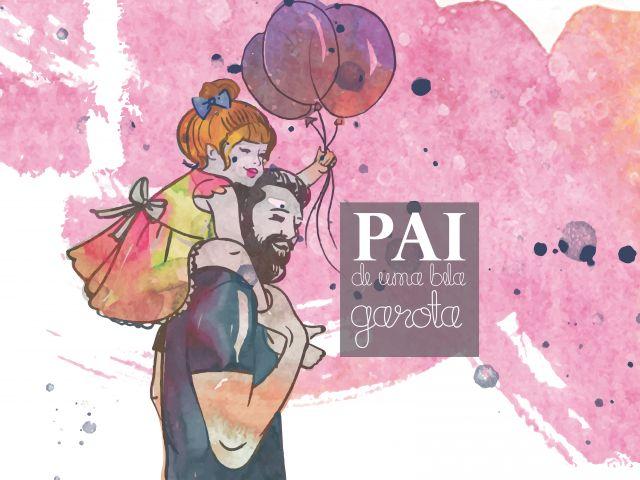 Poster Pai de uma garota   dia dos pais pai Coleção Dia Dos Pais