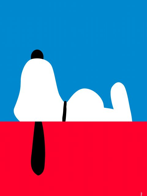 Poster Snoopy Minimalista